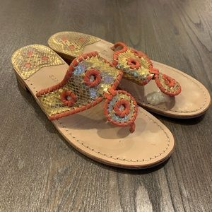 Gold and Coral Jack Rogers